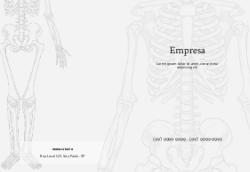 Branco com Esqueleto para Medicina