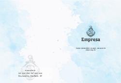 Aquarela Azul para Marketing e Comunicação