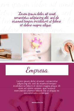 Rosa e Branco Moderno para Salão de Beleza e Maquiagem