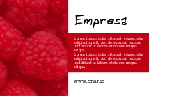 Vermelho para Doces com Frutinhas Vermelhas