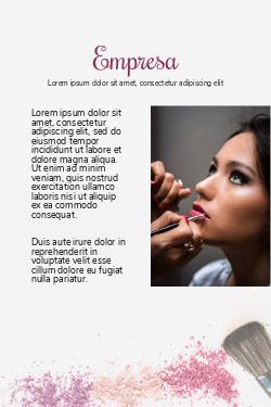 Branco e Rosa para Maquiagem Profissional & Salão