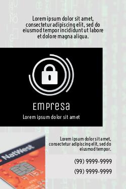 Cinza com Cadeado para Empresas de Segurança Digital