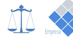 Branco e Azul com Balança para Advogados
