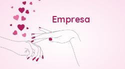 Rosa com Corações para Manicure e Pedicure