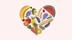 Amarelo com Alimentos para Nutricionista