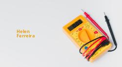 Amarelo Ouro com Multimetro para Engenheiro Eletricista