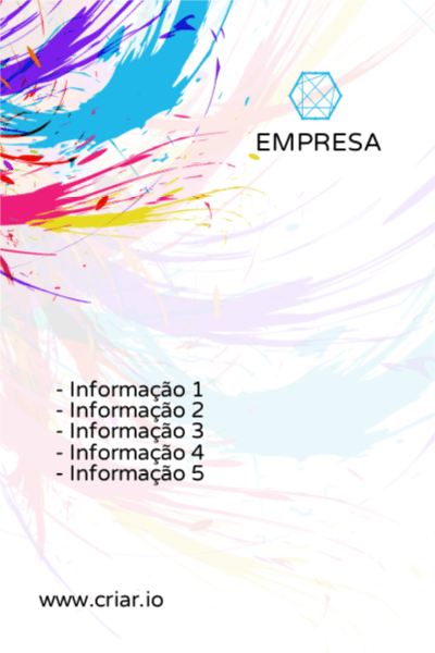Flyer Aquarela Moderno para Marketing e Comunicação Verso