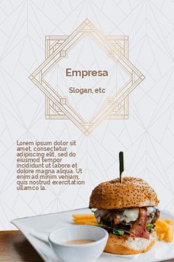 Branco e Marrom Moderno para Hamburgueria Gourmet