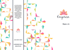Branco com Geométrico para Empresas de Decoração