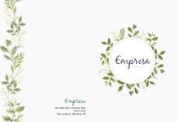 Verde Floral para Spa e Studio de Tratamento de Beleza