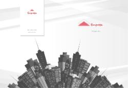 Branco com Cidade Ilustrada para Imobiliárias