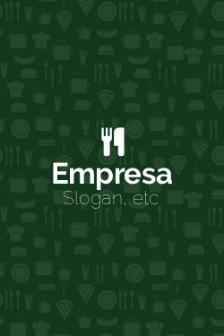 Verde Vermelho e Branco Restaurante Italiano