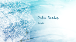 Azul e Branco Mandala para Terapeuta Holístico
