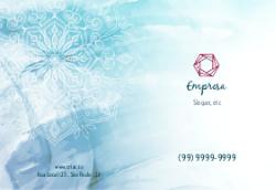 Azul com Mandala para Terapeutas