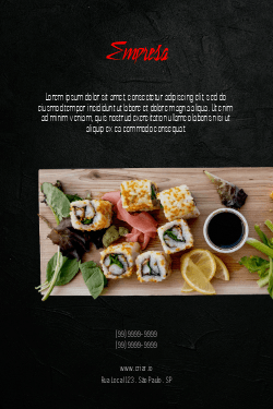 Preto e Vermelho para Restaurante Japonês