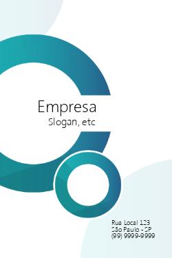 Branco e Azul com Logotipo para Empresas