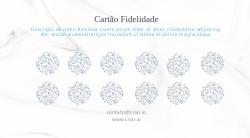 Azul Ilustrado Cartão Fidelidade