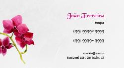 Rosa Choque com Flores Cartão Fidelidade