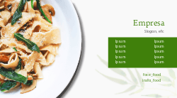 Verde para Restaurante Italiano