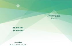 Verde Geométrico para Empresas de Comunicação