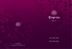 Roxo Floral para Clinicas de Estética e Beleza