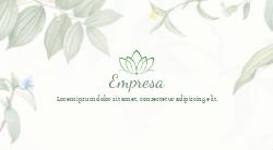 Branco com Folhas Para Terapia Holística