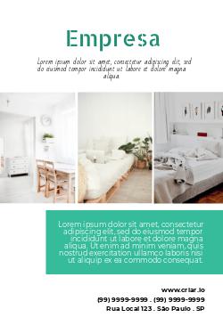 Branco e Verde Design de Interiores & Design de Móveis