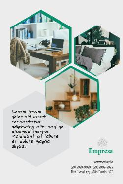 Cinza e Verde para Arquitetura & Design de Interiores
