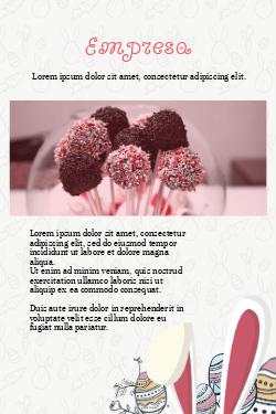 Branco e Rosa para Ovo da Páscoa, Chocolates e Doces