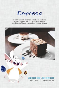 Branco para Páscoa, Confeitaria, Doces & Chocolates